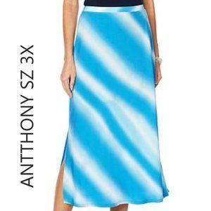 """HSN Antthony """"Ocean Waves"""" Tie Dye Print split sid"""